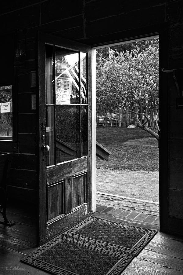 Door Photograph - Open Door B-w by Christopher Holmes
