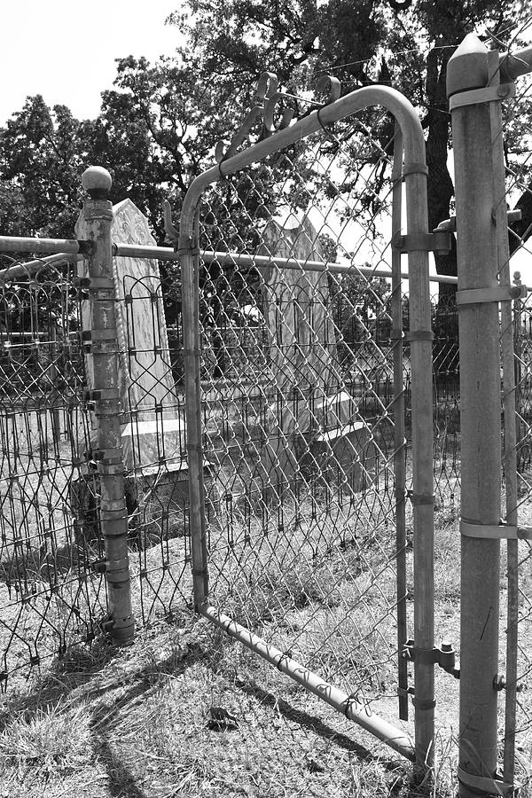 Cemetery Photograph - Open Gate by PhotoPhotopia Melody Fulton