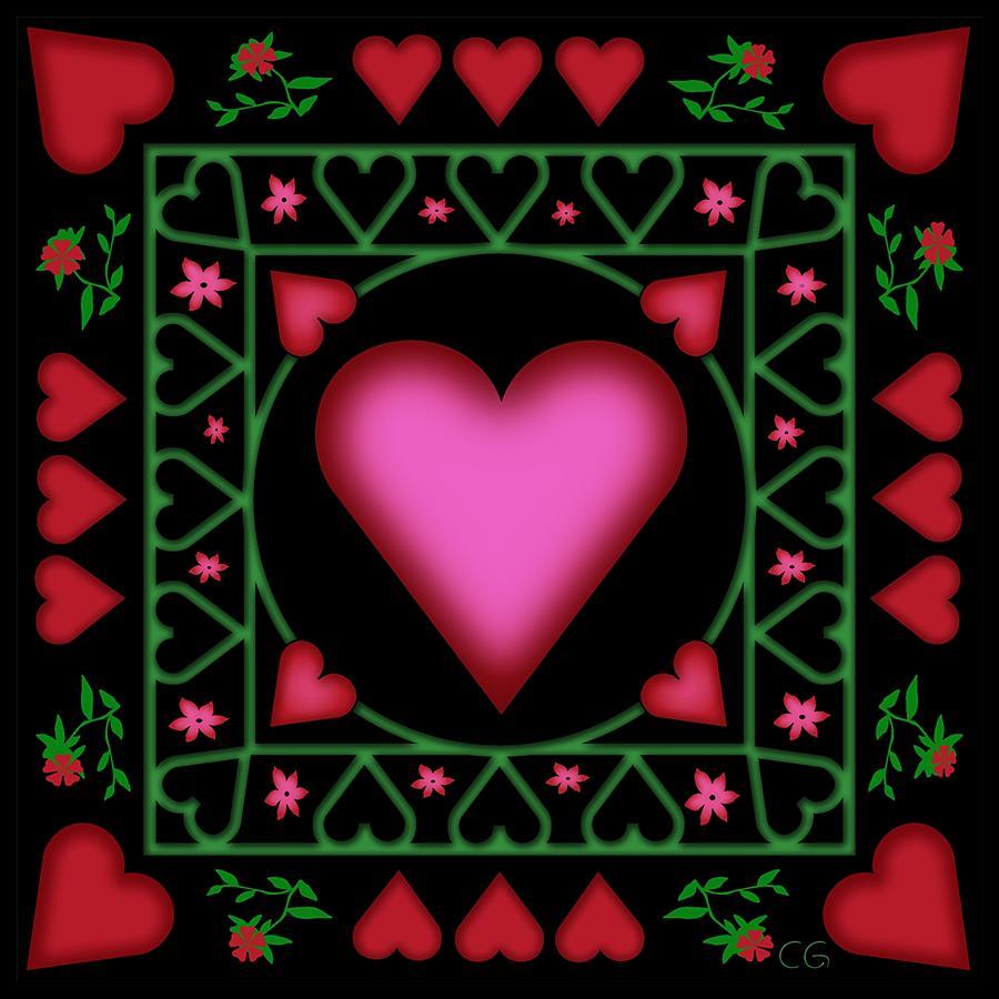 Heart Digital Art - Open Heart by Clare Goodwin