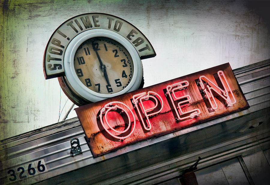 Sign Photograph - Open by June Marie Sobrito
