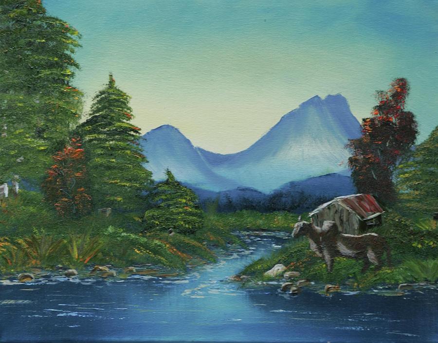 Landscape Painting - Open Range by Robin Lee