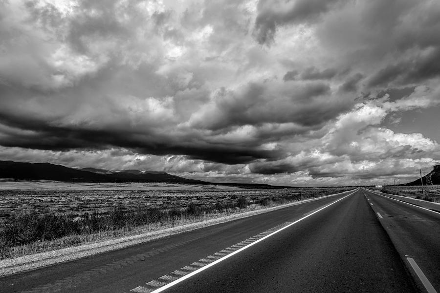 Sky Photograph - Open Road by Michael Romano