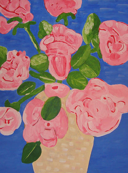 Roses Painting - Open Roses I by Olivia  M Dickerson