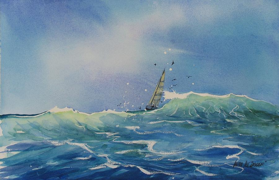 Watercolor Painting Painting - Open Waters by Laura Lee Zanghetti