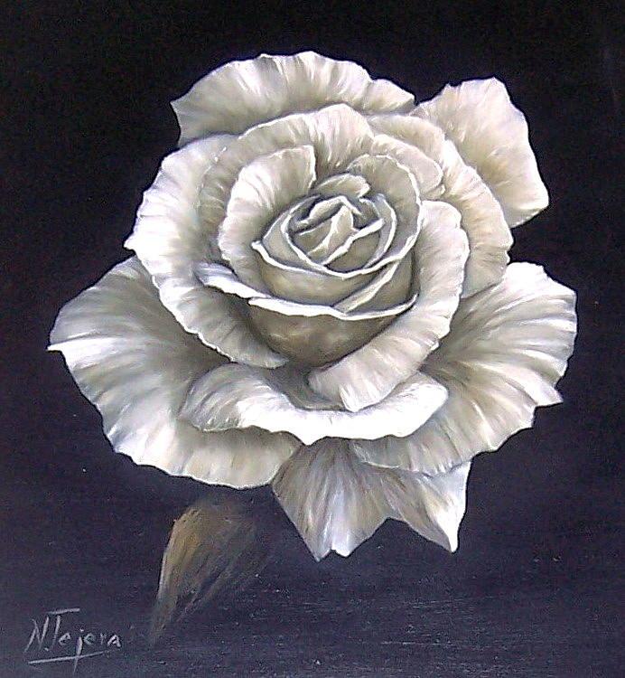 Rose Flower Painting - Opened Rose by Natalia Tejera