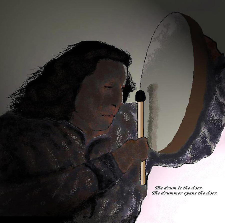 Native American Digital Art - Opening The Door by Carole Boyd