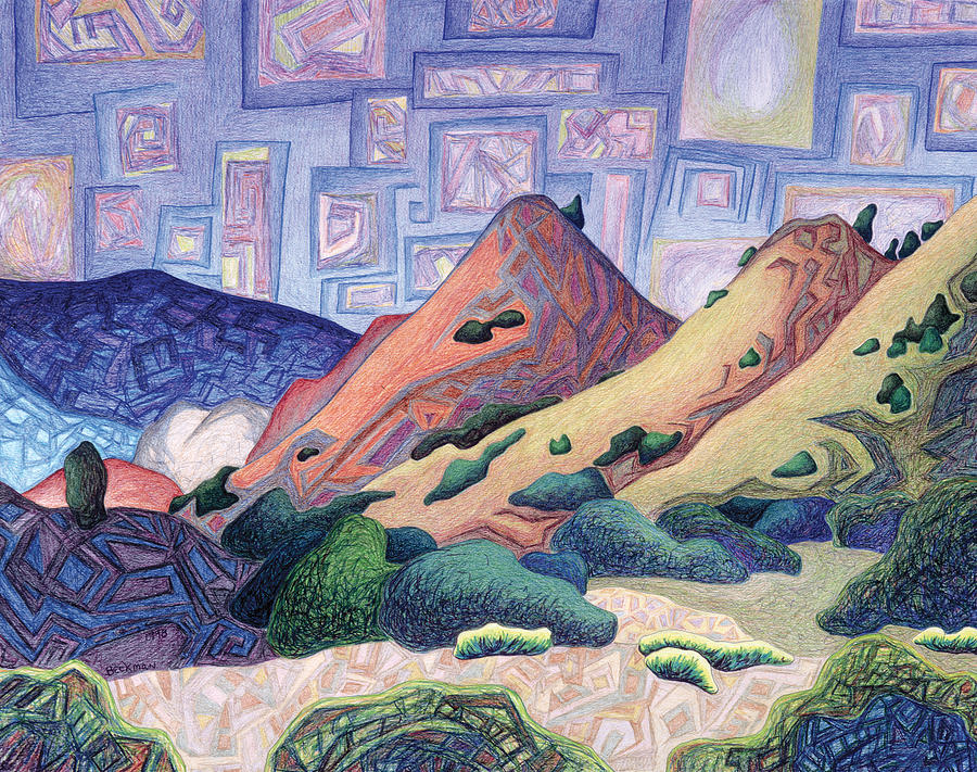 Abiquiu Drawing - Opening The Dream Window by Dale Beckman