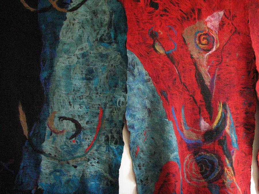 Felt Tapestry - Textile - Opening The Skies by Kseniya Nelasova