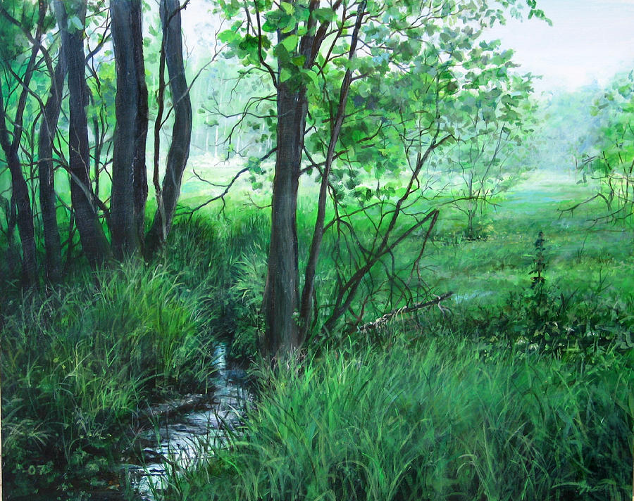 Landscape Painting - Opening by William  Brody