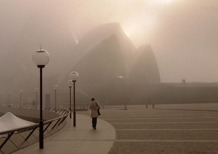 Sydney Photograph - Opera House In The Fog by Barry Culling