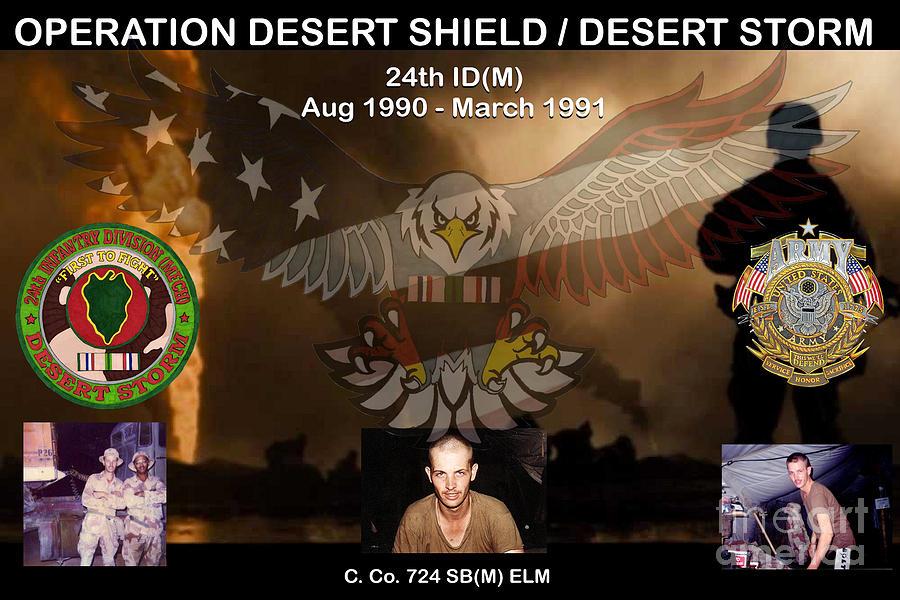Desert Mixed Media - Operation Desert Shield/Storm by Bill Richards