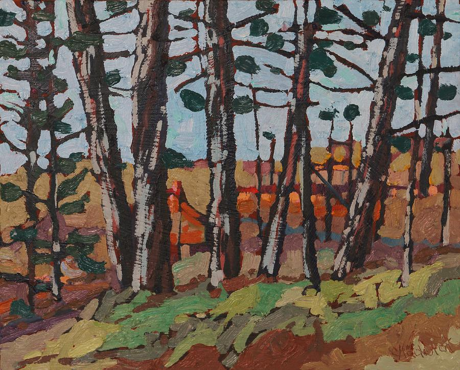 2046 Painting - Opinicon November Forest by Phil Chadwick