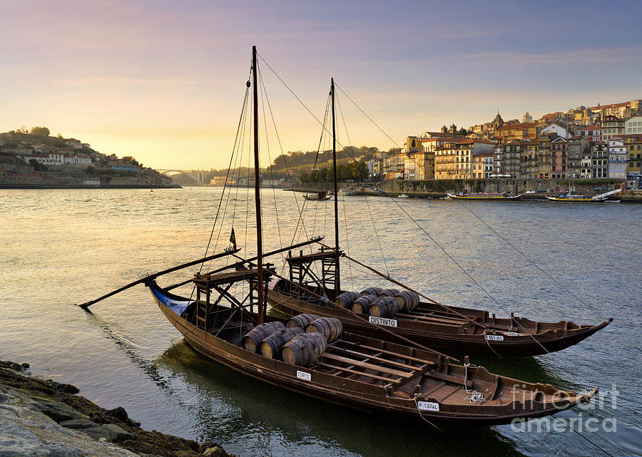 Porto Photograph - Oporto At Dusk by Mikehoward Photography
