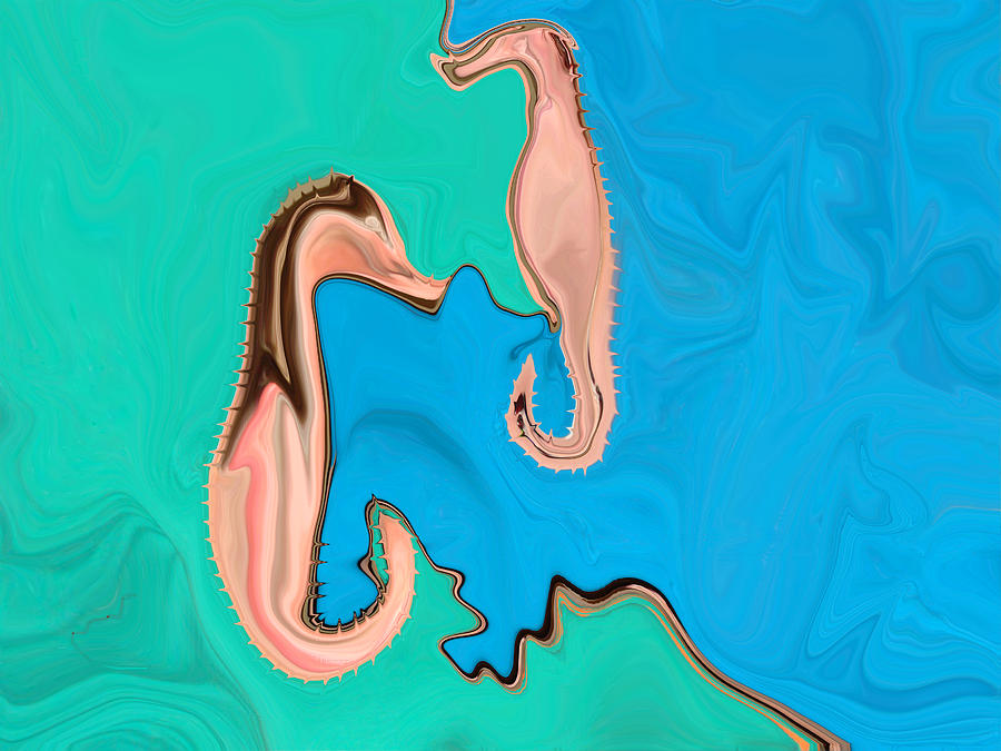 Sea Digital Art - Opposite Sides Of The Tracks by Ashley Porter