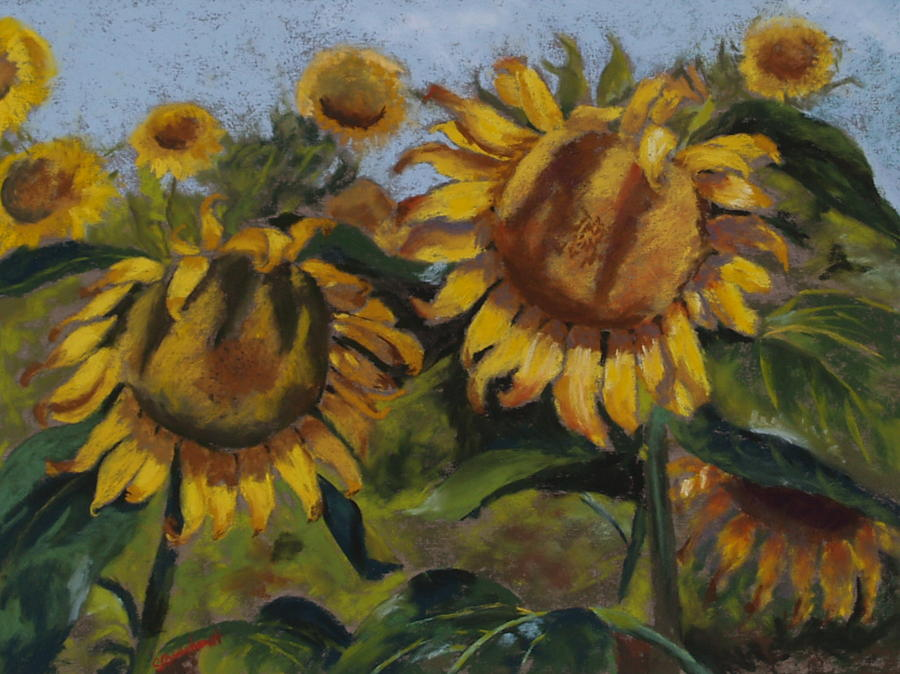Flowers Painting - Opposites Attract by Sarah Bernhardt