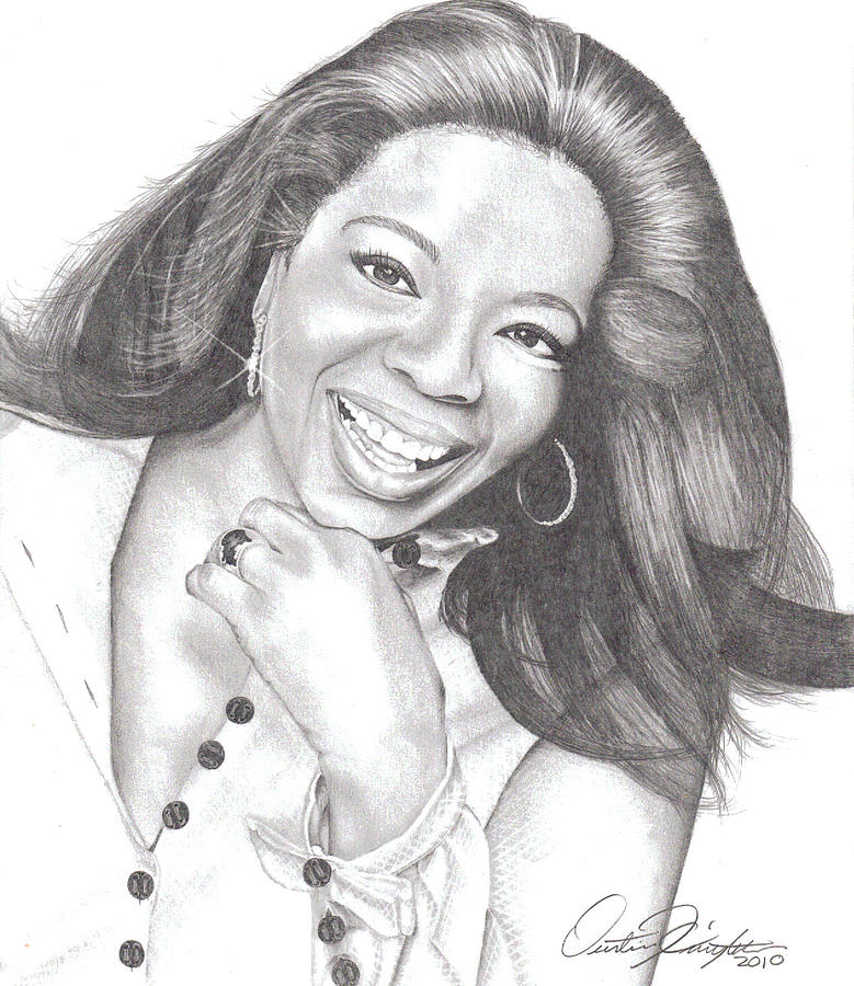 Celebrity Drawing - Oprah by Dustin Knighton