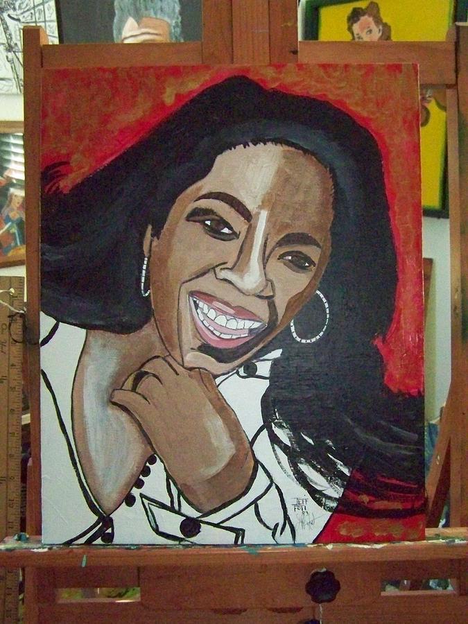 Oprah Painting by Jeffrey Foti