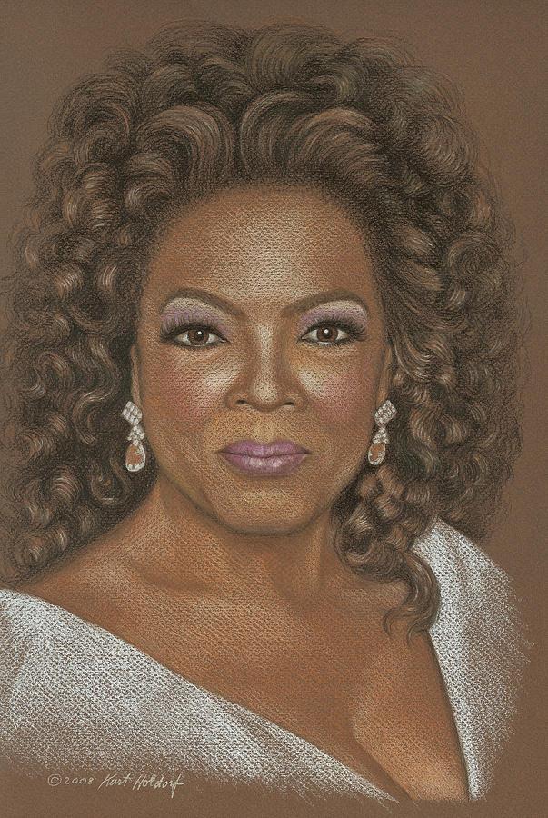 Oprah Drawing - Oprah by Kurt Holdorf