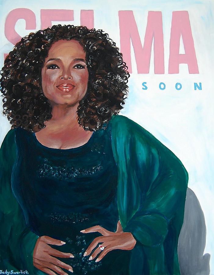 Oprah Winfrey Painting - Oprah Winfrey at New York Premiere of Selma by Judy Swerlick
