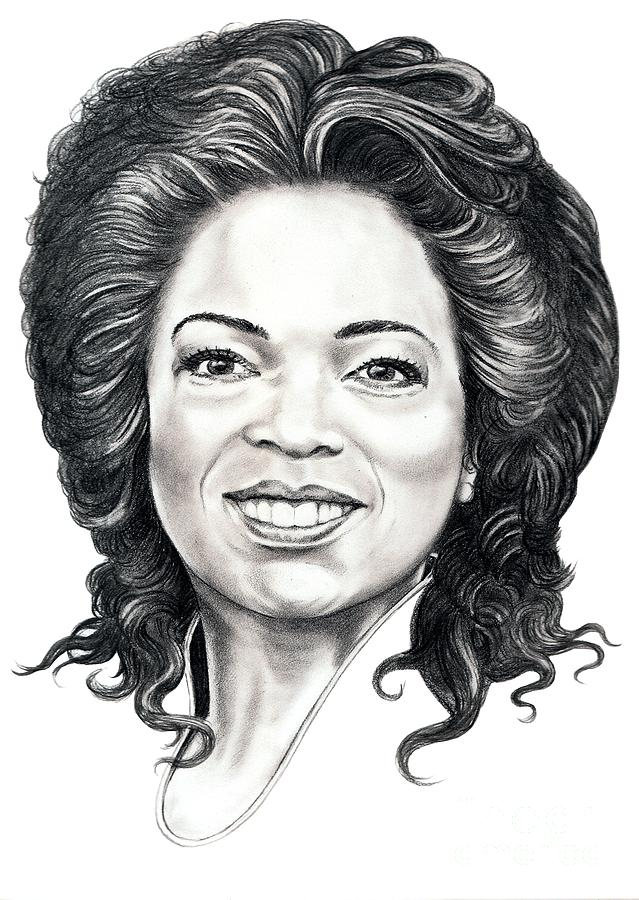 Oprah Drawing - Oprah Winfrey  by Murphy Elliott