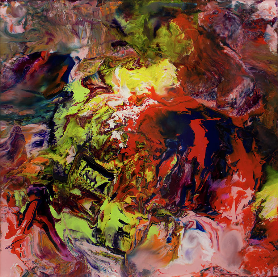 Impressionist Painting - Opt.22.17 Untitled. From The aladdin Series by Derek Kaplan