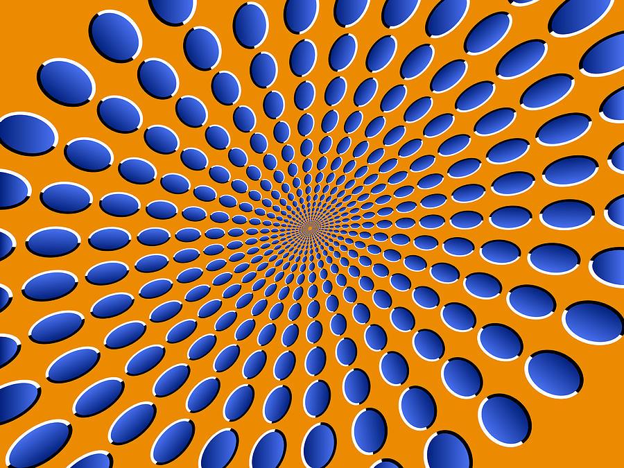 Optical Illusion Digital Art - Optical Illusion Pods by Michael Tompsett