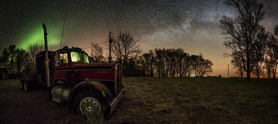 Milky Way Photograph - Optimus Borealis 2 by Aaron J Groen