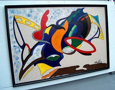 Painting Painting - Opus Butterflies by Richard Beau Lieu