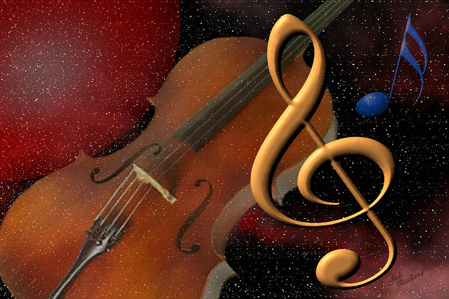 Music Digital Art - Opus For The Final Frontier by Judi Quelland