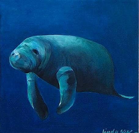 Painting Painting - Opus Manatee 2 by Linda Sage