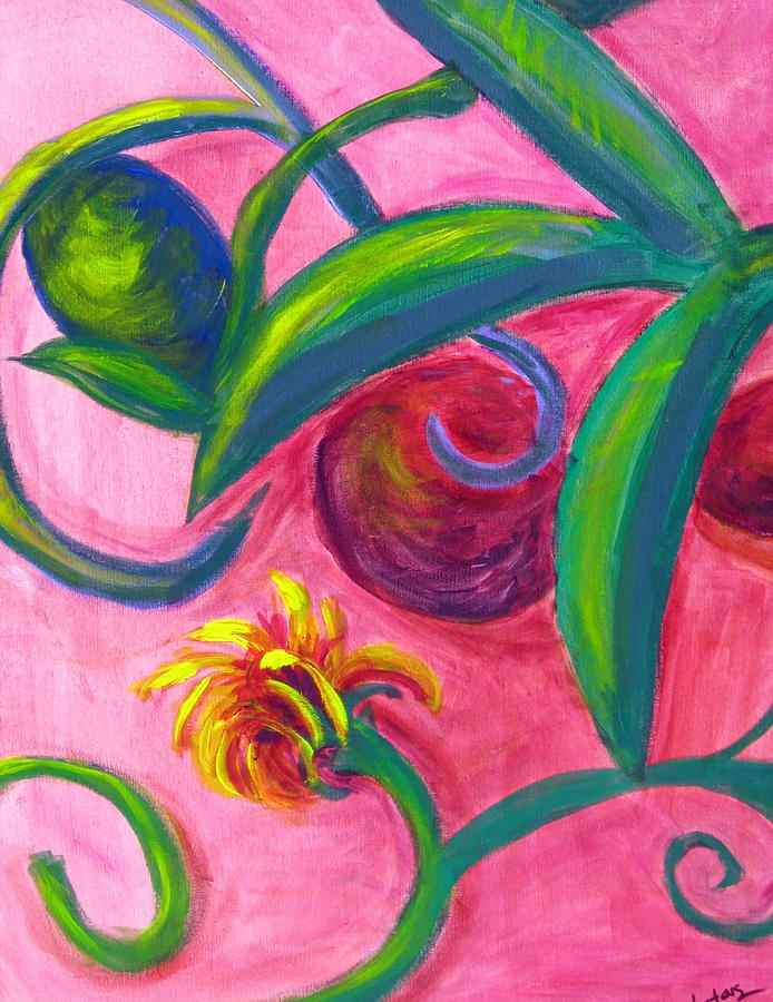 Sphere Painting - Opus Seven by Rebecca Merola