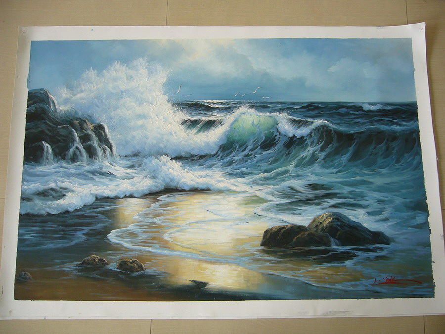 Oil Painting Painting - Opxm Art by Seascape