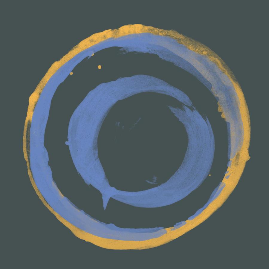 Orange Painting - Orange And Blue1 by Julie Niemela