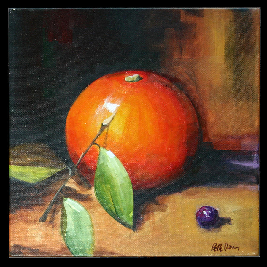 Orange Painting - Orange And Purple by Pepe Romero