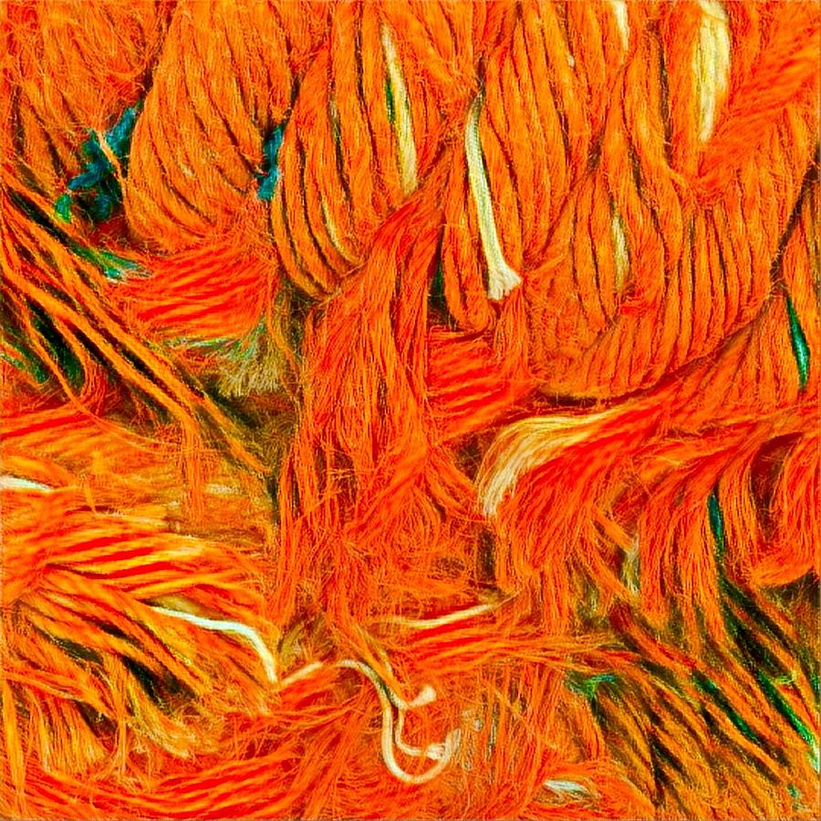 Orange Art by Colette V Hera Guggenheim