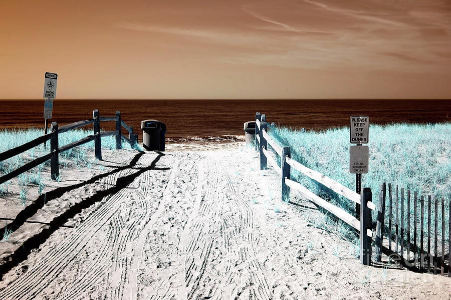 Beach Entry Photograph - Orange Beach Entry by John Rizzuto