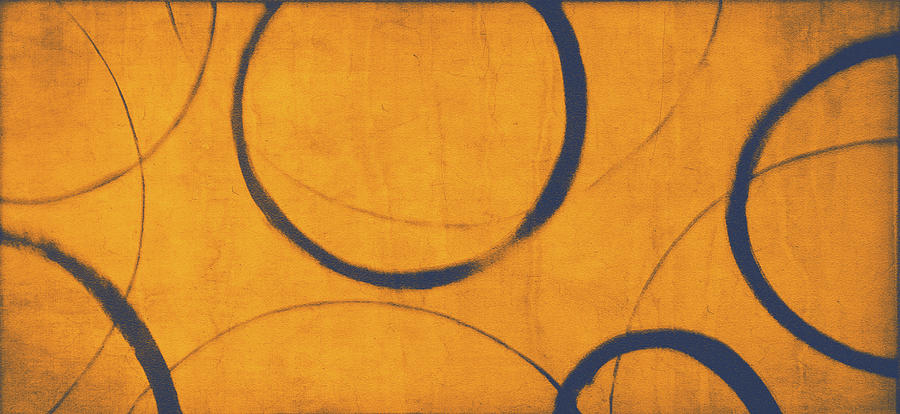Orange Blue Ensos Painting