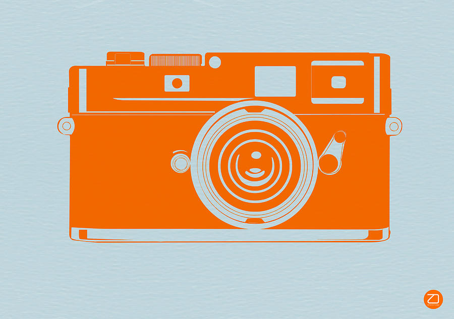 Film Photograph - Orange camera by Naxart Studio