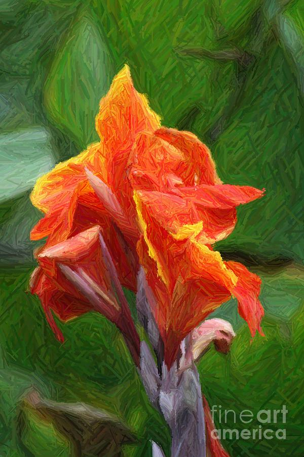 Orange Photograph - Orange Canna Art by John W Smith III