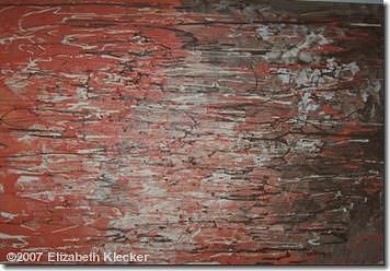 Abstract Painting - Orange Crush by Elizabeth Klecker