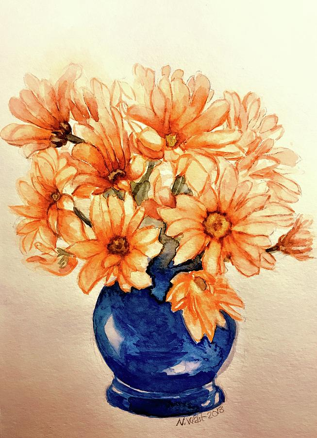 Orange Daises by Nancy Wait