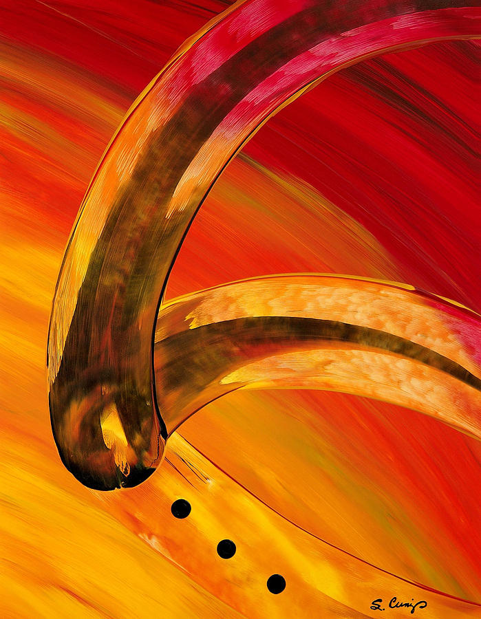 Abstract Paintings Painting - Orange Expressions by Sharon Cummings