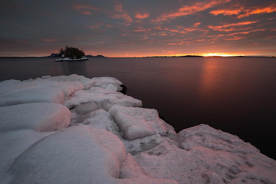 Awakening Photograph - Orange February Sunrise by Jakub Sisak