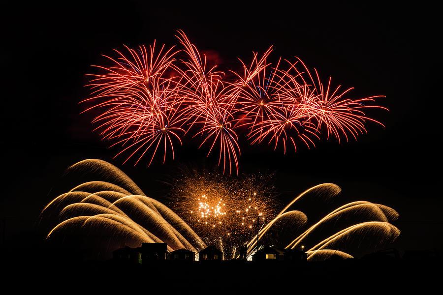 Orange Fireworks by Lindsay Sullivan