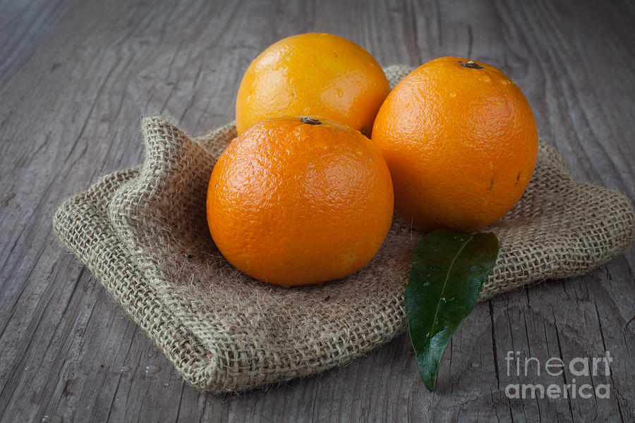 Tangerine Photograph - Orange Fruit by Sabino Parente