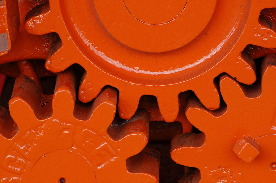 Orange Gear 2 Photograph by Michael Raiman