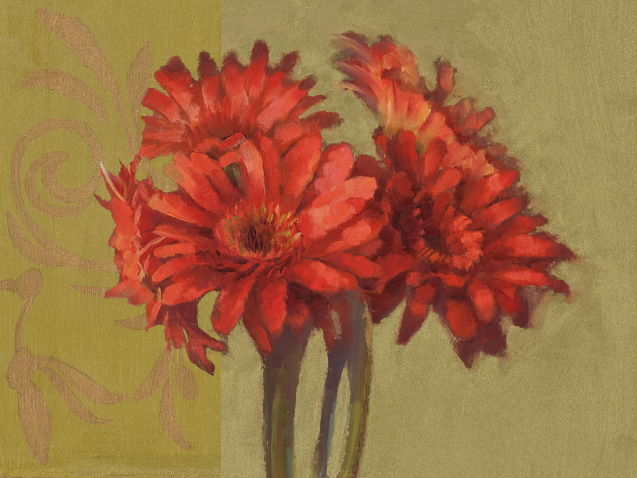 Floral Painting - Orange Gerbers by Cathy Locke