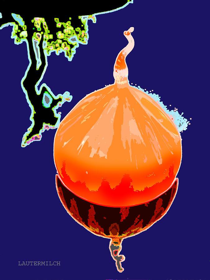 Blown Glass Photograph - Orange Globe by John Lautermilch