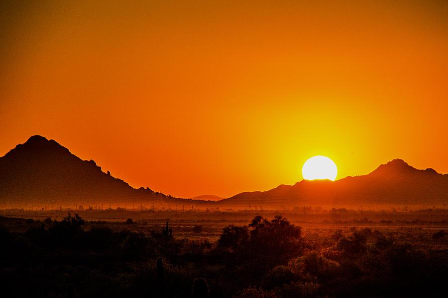 Sunset Photograph - Orange Haze by Kyle Field