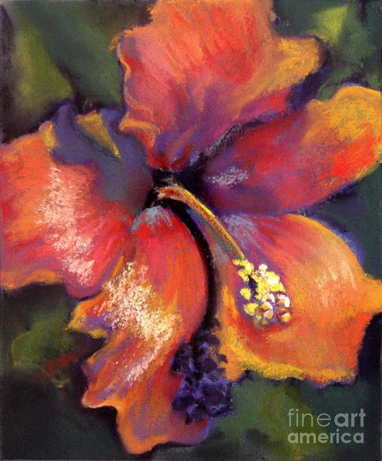 Hibiscus Pastel - Orange Hibiscus by Cheryl Yellowhawk